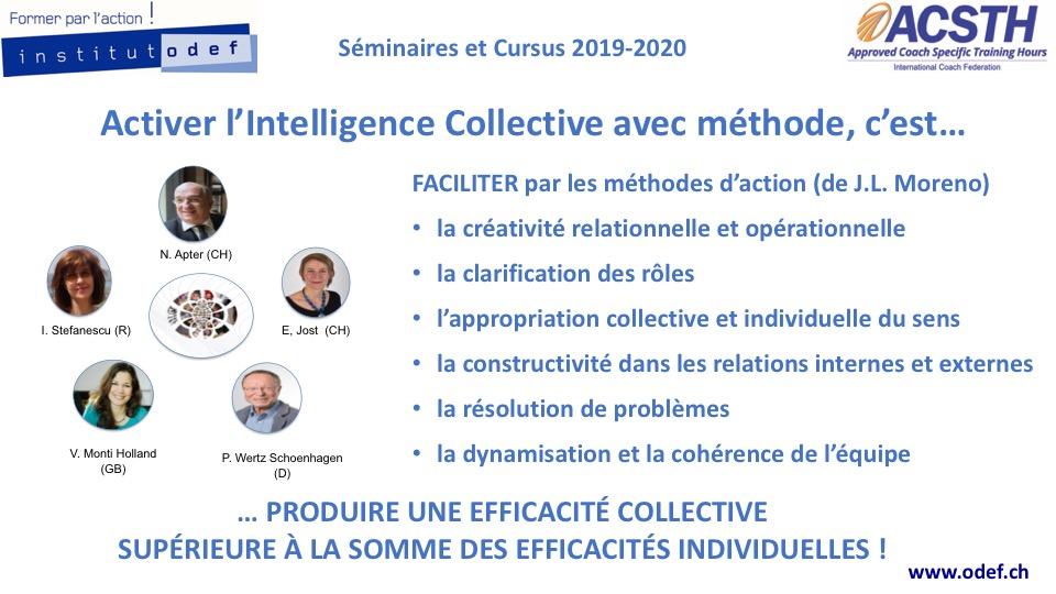 Activer l'Intelligence collective avec méthode, c'est produire une efficacité collective supérieure à la somme des efficacités